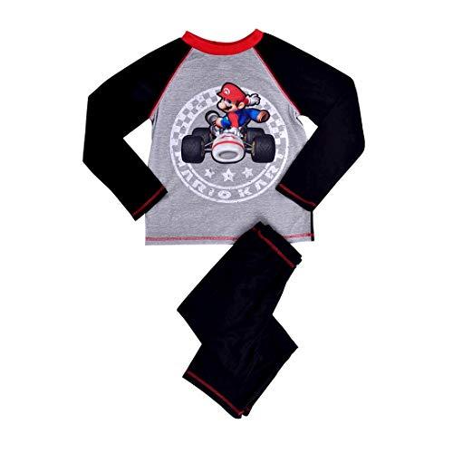 Super Mario Big Boys' Mario Cart 2 Piece Sleep Set, Black/Multi Print, Extra Small by Super Mario