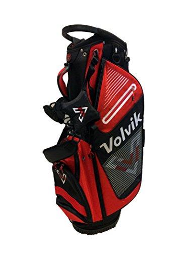 Volvik Stand Golf Bag 14-Way Stand Golf Bag, Red