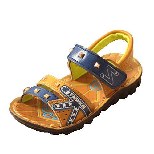 Ohmais Kinder Jungen flach Freizeit Sandalen Sandaletten Kleinkinder Halbschuhe Sandalette Blau