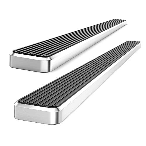 6 inch eBoard Running Boards Aluminum For 07-16 Silverado/Sierra Double/Extended Cab Side Step Rails Tube Nerf Bars