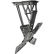 "VIVO Electric Motorized Flip Down Pitched Roof Ceiling TV Mount for 23"" to 55"" Screen (MOUNT-E-FD55)"