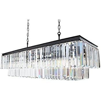 40 inch wrought iron glass prism chandelier amazon 40 inch wrought iron glass prism chandelier aloadofball Gallery
