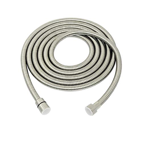 PHASAT 138-Inch Extra Long Shower Hose,Stainless Steel Handheld Showerhead Hose,Bathroom Tube Sprayer Replacement Extension hose,Bushed Nickel,A3107N-3.5