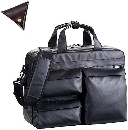 メンズ 3way ビジネスバッグ リュック B4 撥水 バッグ と [BLANZAY 本革高級コインケース]のセット BH26609