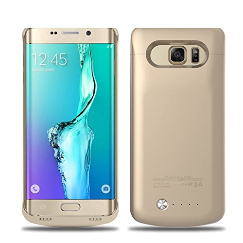 Samsung Galaxy S6 Edge Plus Battery Case, LifeePro For Samsung Galaxy S6 Edge Plus 4200mAh Rechargeable External Battery Backup Protective Case Power Bank Charger Cover (Golden)