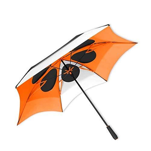 ShedRain ®渦Vent XL 68 ″ゴルフ傘:ブラック/ホワイト/オレンジ   B07CHYG45T