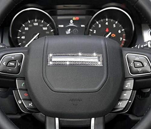 NIUHURU Car Interior Trim Bling Accessories Rhinestone Decals Steering Wheel Sign Sticker for Land Rover Range Rover Evoque Car Styling