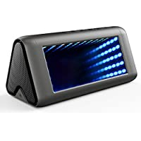Gracety Portable Wireless Bluetooth Speakers V4.0 with Microphone, 5 Dynamic 3D Lights Effects, 20W Output Strong Bass Stereo Sound for All Bluetooth Devices