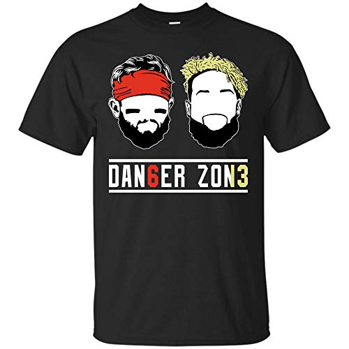 Baker-Mayfield Odell-Beckham Jr Tshirt Danger Zone T Shirt Sweatshirt Hoodie Browns OBJ Cleveland Tshirt (Unisex T-Shirt;Black;4XL)