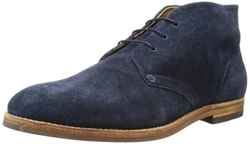 H By Hudson Mens Houghton 3 Chukka Boot Suede / Navy