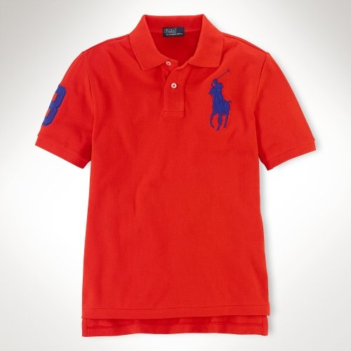 Polo Ralph Lauren Bright Mesh Big Pony Polo Boy's X-Large by RALPH LAUREN