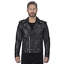 Viking Cycle Angel Fire Premium Grade Cowhide Leather Motorcycle Jacket for Men (2XL)