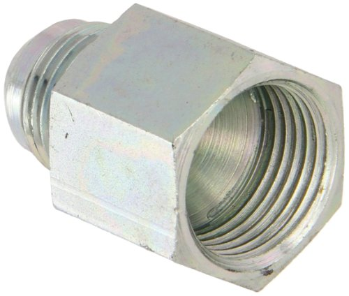 Eaton Aeroquip 221501-10-6S Reducer, Female 37 Degree JIC, JIC 37 Degree End Types, Carbon Steel, 3/8 JIC(m) x 5/8 JIC(f) End Size, NULL Tube - Aeroquip Reducer