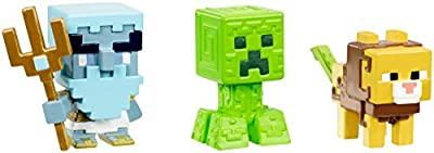 Minecraft Mini Poseidon, Greek Creeper, & Ocelot Chimera Figure, 3 Pack from Mattel