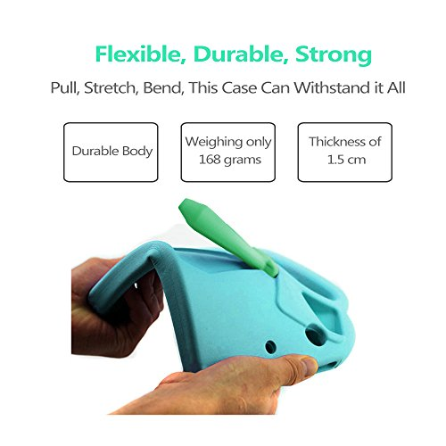 TabPow Suit & Tie iPad Mini Case - [Shockproof][Drop Protection][Heavy Duty] Cute Kids Children EVA Case Cover with Carrying Handle and Stand For iPad Mini and iPad Mini 2 with Retina, Turquoise Blue Photo #4
