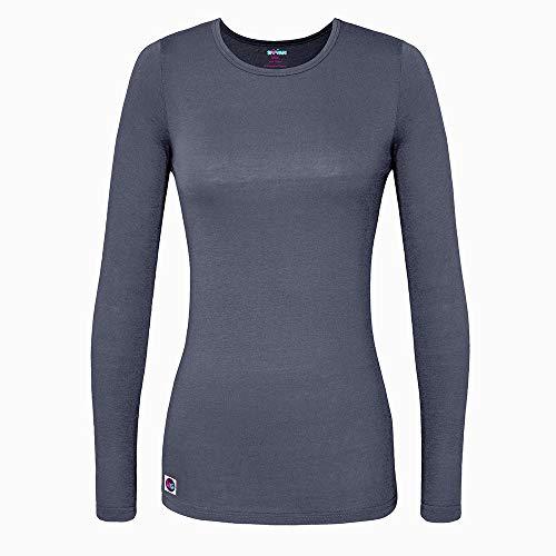 Jacket Coat Shirt - Sivvan Women's Comfort Long Sleeve T-Shirt/Underscrub Tee
