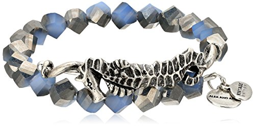 Alex and Ani Women's Seahorse Wrap Bracelet Navy/Silver One Size