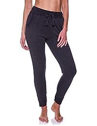N.Y.L. Women's Cuffed Ankle Pockets Workout Yoga Sweatpants