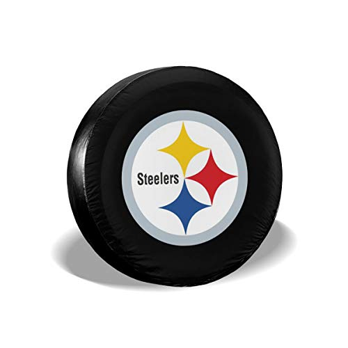 MamaTina Design Waterproof Tire Cover Pittsburgh Steelers American Football Team Unisex Spare Tire Cover for Jeep Trailer RV SUV and Many Vehicle ()