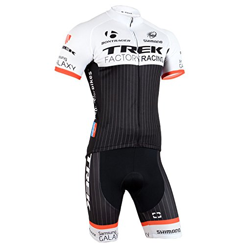 ETBO 2015 Trek Team Men's Short Sleeve Cycling Jersey and Bib Shorts Set