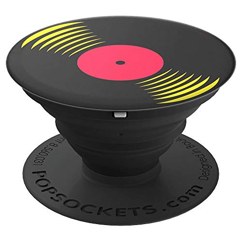 (33 RPM - Illustration of vinyl record - PopSockets Grip and Stand for Phones and Tablets)
