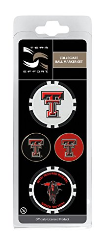 - Team Effort Texas Tech Red Raiders Ball Marker Set