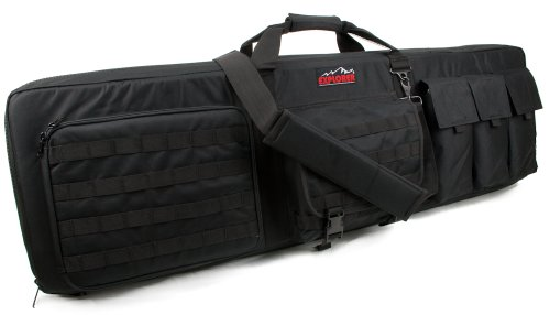 Large 3 Gun Soft Carry Case with Shooting Mat – Holds up to 45 Inch Rifle, Outdoor Stuffs