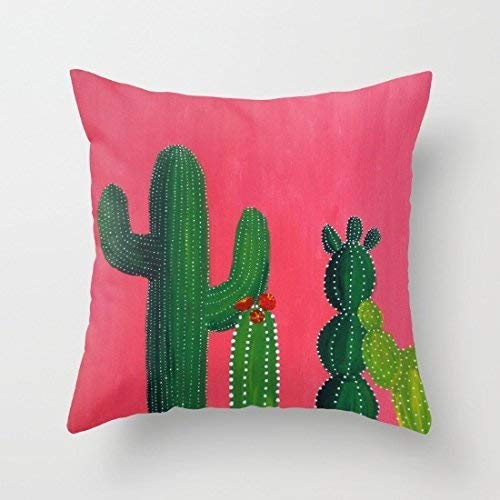 Cute Cactus Decorative Pillow Covers Farmhouse Decor Pillows Throw Pillow Covers 18x 18 for Teen Girls I Like Exercise