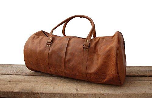 VINTAGE Design, L Vintage Leder Weekender Reisetasche Sporttasche Reisegepäck Bordtasche Freizeittasche Doktortasche Vintage Ledertasche Groß Britisch Klassiker Retro