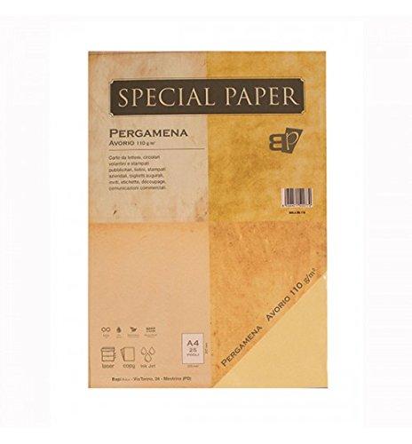 Carta Bapi Pergamena Avorio A4 110 gr. 25 ff BAPI S.n.c.