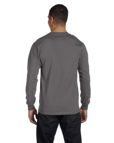 Hanes Tagless Long-Sleeve T-Shirt (Set of 2) - -