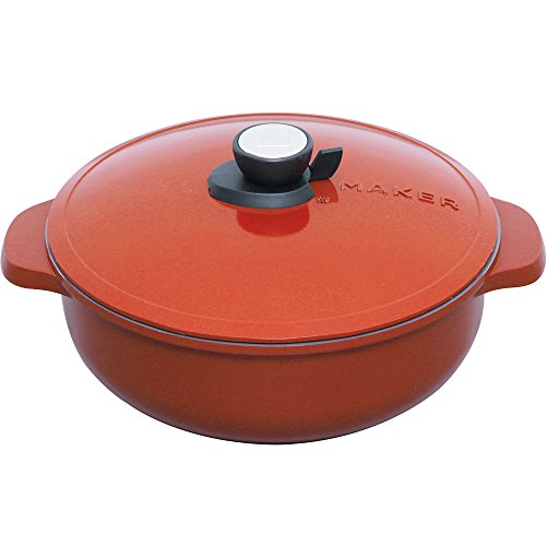 IRIS OHYAMA (pan which can be used without water) 28 cm Deep MKSN-P28S (Red) by IRIS OHYAMA, Inc.