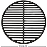 """Dracarys 15"""" Cast Iron Grids Grate Big Green Egg Accessories Grate Replacement Parts Grill & Smoker Round Grilling Cooking Grate Fit for A Medium Big Green Egg Grill & Smoker(Medium - 15"""")"""