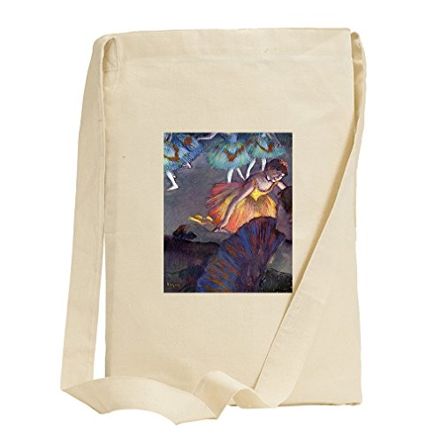 Ballet, From A Box View (Degas) Canvas Sling Tote Bag (Degas Ballet Bag)