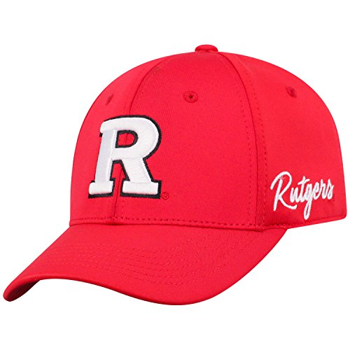Top of the World Rutgers Scarlet Knights Men's Fitted Hat Icon, Red, One Fit
