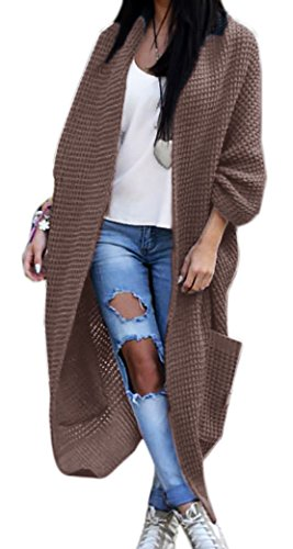 Gilet Coupe loose unique Femme Marron B Taille aPqwy5