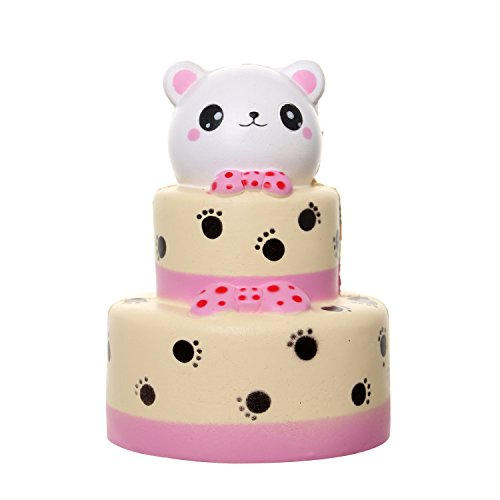 MENGWEI Jumbo Squishy 6.0'' Cake Squishies Slow Rising Kawaii Cat Squishies Stress Relief Squishy Toy for Kids and Adults Birthday Gifts by MENGWEI