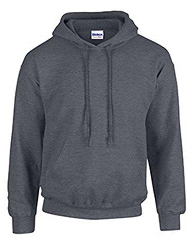 Gildan Mens Heavy Blend Hooded Sweatshirt/Hoodie 50/50 (G185)-8 Ounce-CHARCOAL-XL