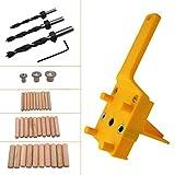 XINGPE Guía de taladrado autocentrante, guía de taladrado de orificios de madera de 6/8 / 10mm Herramienta de localización del posicionador de carpintería para el día del padre