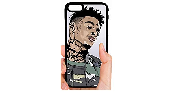 ca3bdaff540dd7 Amazon.com  21 Savage Cartoon Drawing Camo Outfit Hip Hop Rapper Trap Phone  Case Cover - Select Model (iPhone 5 5s)  Cell Phones   Accessories