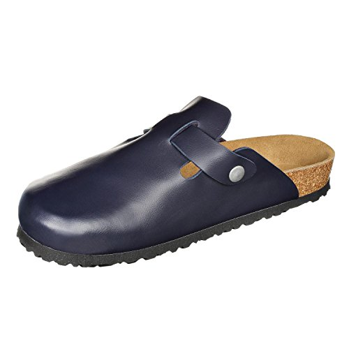 Shoes Blue JOE and Dark Womens N Mens Leatherette Soft Narrow Clogs Softbedded Slippers JOYCE fXpfq