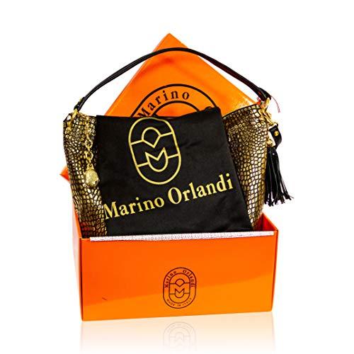 Bronce Orlandi Diseñador De Con Cuero Italiano Bolso Antiguo Diseño Croc Marino Bandolera PXA6dxd