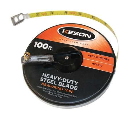 ries Closed Case Steel Blade Tape, 100'/30m L (Closed Metal Case Tape Measures)