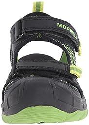 Merrell Boys Hydro Rapid Water Sandal (Toddler/Little Kid/Big Kid), Black/Green, 10 M US Toddler