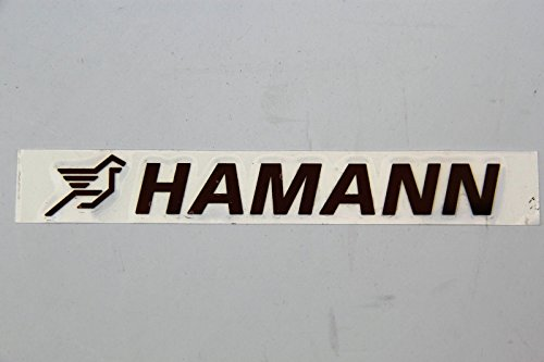 ORIGINAL HAMANN BLACK LOGO EMBLEM BMW DECAL BLACK 3D M5 M3 X5 X6 335i 550i Z4