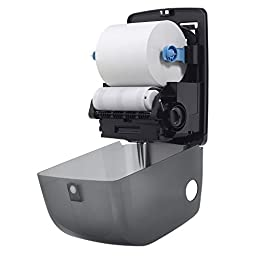 Georgia-Pacific SofPull 59489 Translucent Smoke Mechanical Hardwound Roll Towel Dispenser (WxDxH) 12.600\