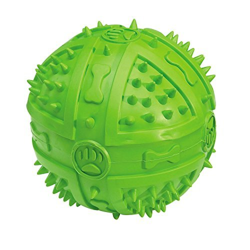 Grriggles Rubber Chompy Romper Ball Dog Toy, 3-3/4-Inch, Parrot Green by (Chompy Romper Ball)