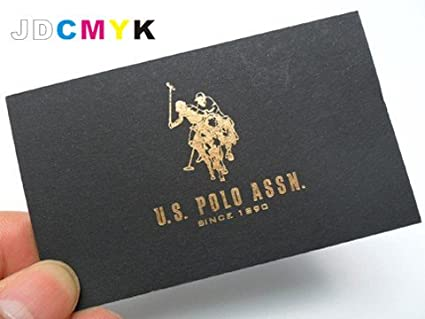 Amazon custom 500pcs gold silver foil business card gold custom 500pcs gold silver foil business card gold silver stamping color bronzing printing colourmoves