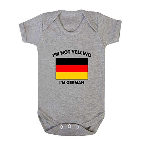 I'M Not Yelling, I Am German Germany Baby Bodysuit One Piece Oxford Gray 6 Months - German Baby Clothes