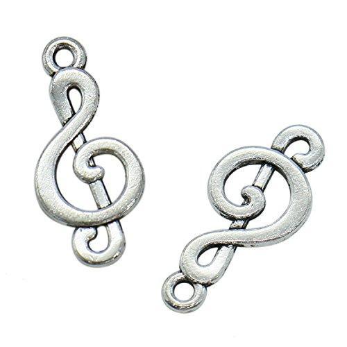 Buy silver music charm treble